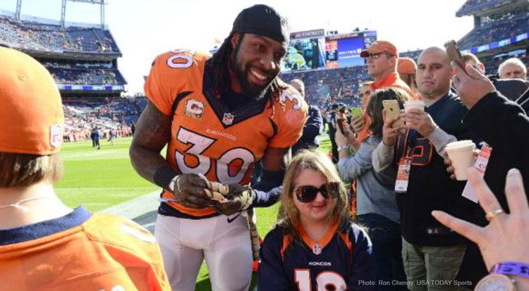 Broncos' David Bruton nominated for NFL Man of the Year Award